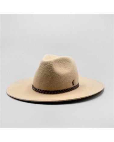 beige Cowboy - leather braid